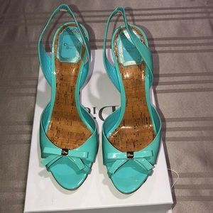 Dior peep toe sling back sandal